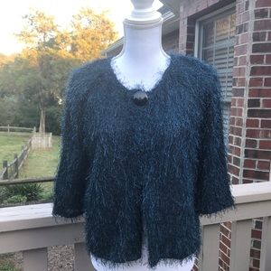 New Directions Faux Fur Cardigan